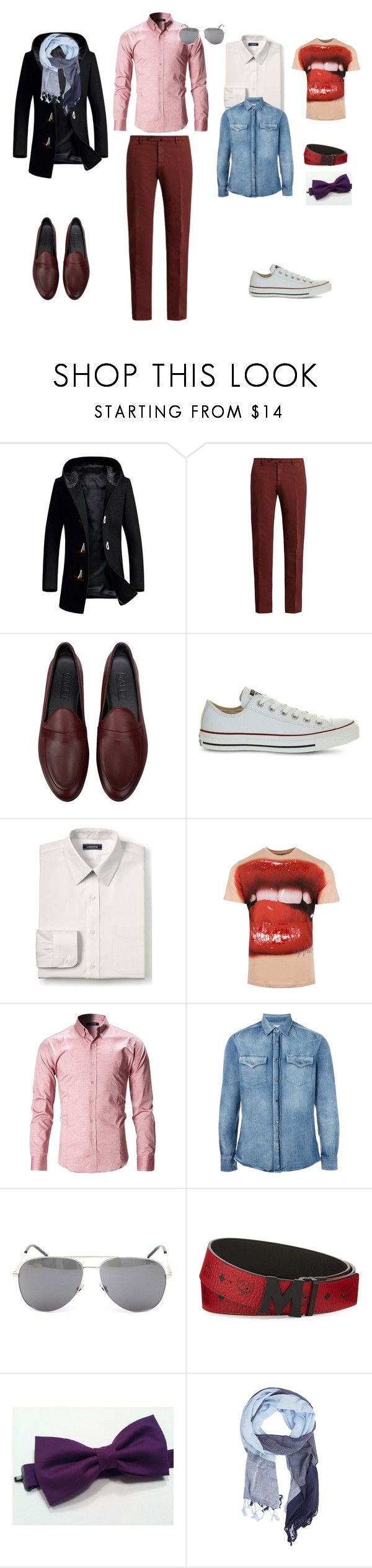 """Мужчины в тренде!"" by yana-ardysheva on Polyvore featuring Incotex, Galet, Converse, Lands' End, Vivienne Westwood Man, Brunello Cucinelli, Yves Saint Laurent, MCM, MANGO MAN и men's fashion"