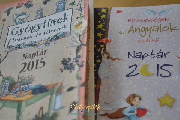 Különleges határidőnaplók 2015-re akvarellekkel, receptekkel, idézetekkel