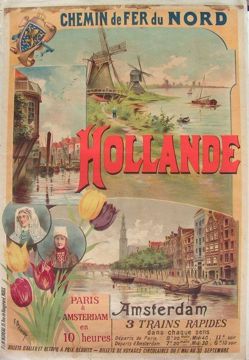 Toerisme: Amsterdam - Ontwerp: Gustave Fraipont - 1895