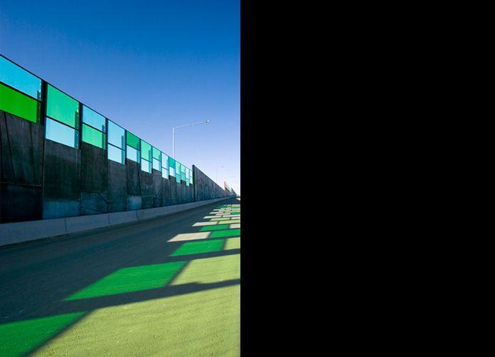 Highway Noise Walls As Landscape Art Eastlink Freeway