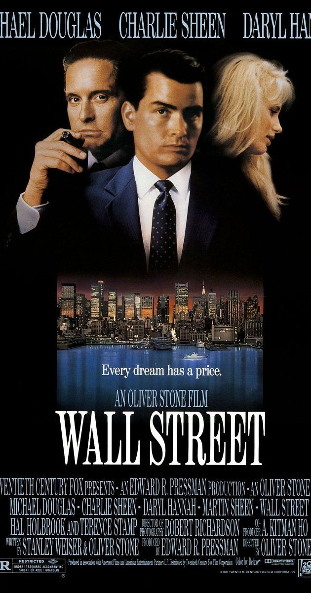 Directed by Oliver Stone. With Charlie Sheen, Michael Douglas, Tamara Tunie, Franklin Cover. A young and impatient stockbroker is willing to do anything to get to the top, including trading on illegal inside information taken through a ruthless and greedy corporate raider who takes the youth under his wing.