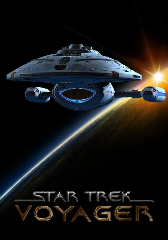 TV or Movie Poster o/t Week - Star Trek: Voyager. Find fellow Trekkies at https://createamixer.com/