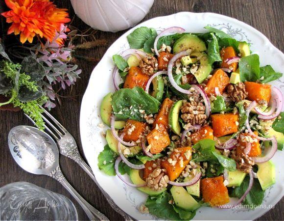 Запеченная пряная тыква — вполне самостоятельное, очень вкусное блюдо. Так как ее получилось много, решила приготовить салат. Рецепт запеченной тыквы нашла в интернете, салат придумала сама. Нам ...