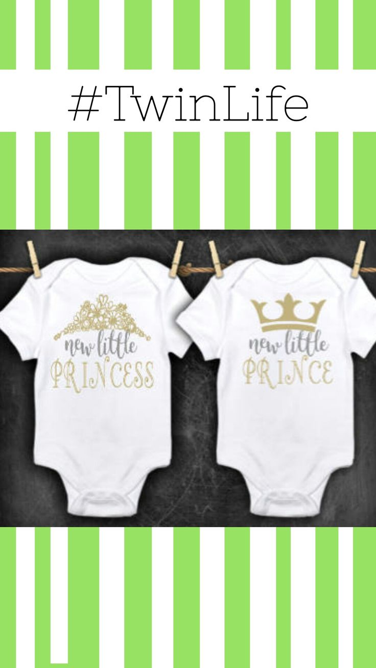 TWIN OUTFITS, Boy girl twin clothes, prince and princess outfit, twin baby gifts, new twins outfits, baby twins, new baby gift, newborn twin #ad