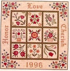 rose of sharon applique quilt history