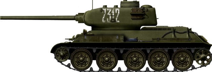 T-34/85 Model 1943, early production version, Operation Bagration, July 1944.