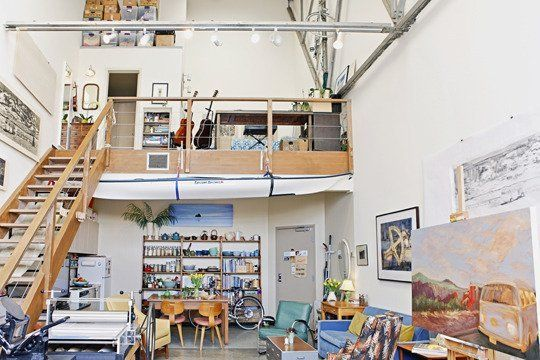 In her San Francisco loft, Sirima Sataman lives, makes art, and teaches printmaking classes, all in 800 square feet.