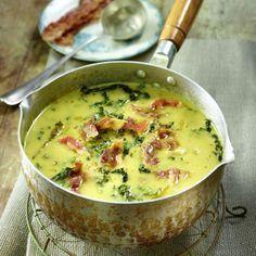 Kartoffel-Wirsing-Suppe mit Speck Rezept