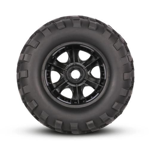 #TomTop - #TomTop 2Pcs AUSTAR AX-3011 155mm 1/8 Monster Truck Tires with Beadlock Wheel Rim for TRAXXAS SUMMIT E-Revo HPI Savage XL Flux HSP RC Car - AdoreWe.com