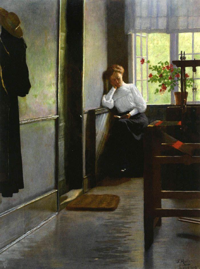 pintura de  Iver Andreas Wilhelm Marinus Holter,