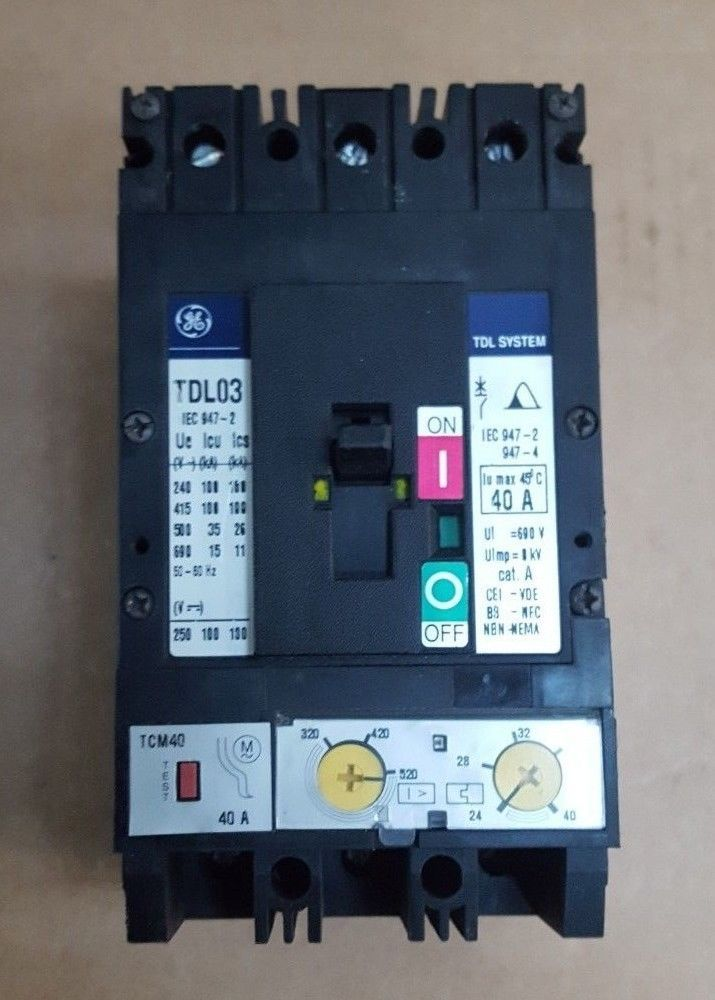 General Electric Tdl03 Circuit Breaker Br5 3b7 Electrical And Test Equipment Business And Industrial General Electric Industrial Circuit