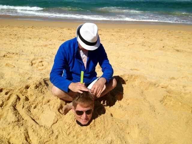 A cut above #beach #beachlife #hair #sand #surf #outdoorsalon
