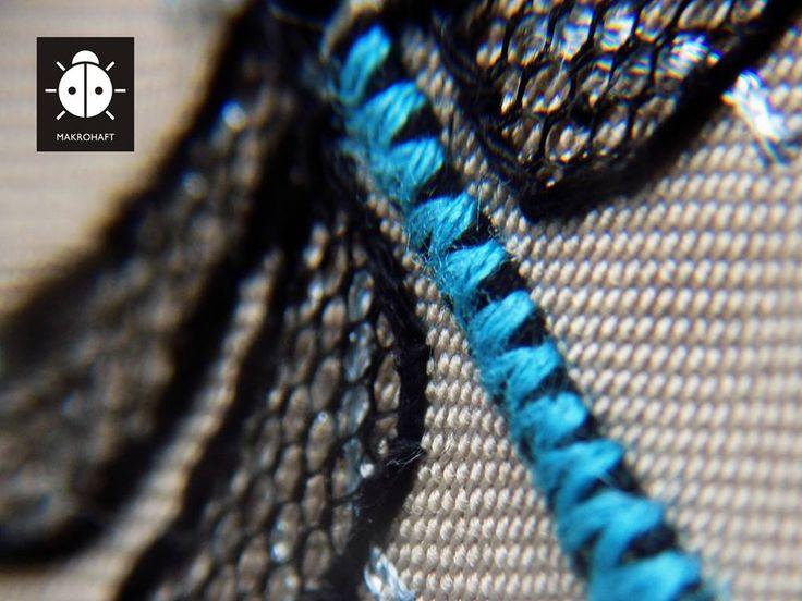 #haft ręczny #handmade #ważka #husarz #biżuteria #wisiorek #embroidery #zawieszka #makrohaft #jewelery
