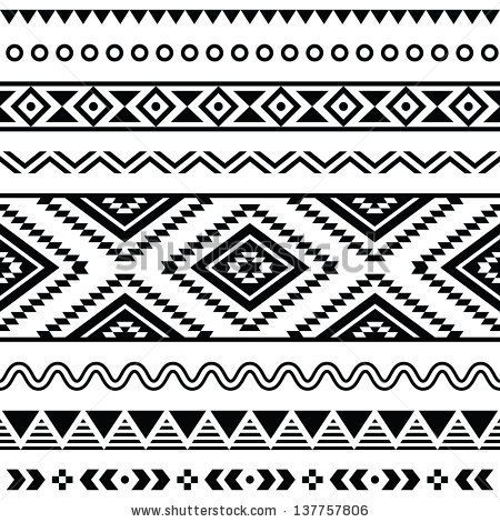 Tribal aztec pattern