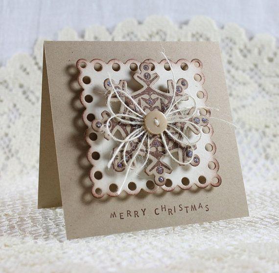 Handmade Holiday  Christmas Greeting Card