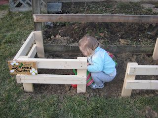 toddler garden built next to my own garden.  I would throw some seeds in there when she was't looking