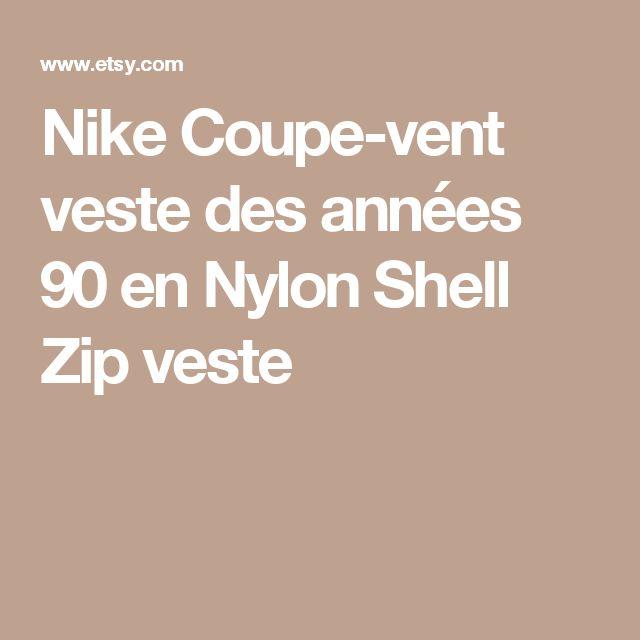 Nike Coupe-vent veste des années 90 en Nylon Shell Zip veste