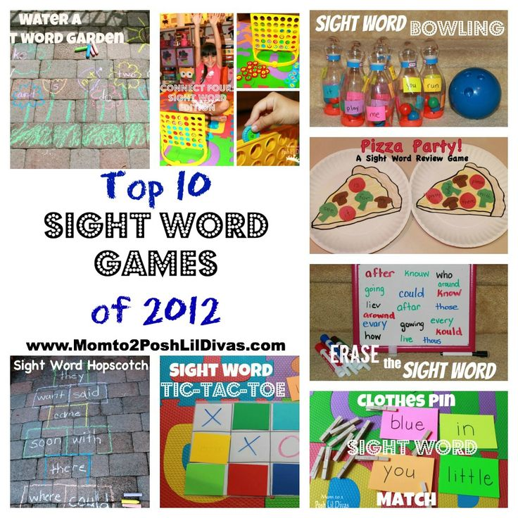 Top 10 Sight Word Games of 2012 on Mom to 2 Posh Lil Divas