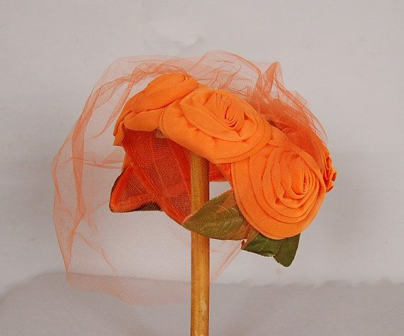 "1950s hat #millinery #judithm #hats My ""precious"" hat is very similar in style and color, but the flowers are smaller"