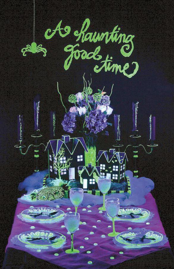 246 best halloween glow in the dark spooktacular halloween. Black Bedroom Furniture Sets. Home Design Ideas
