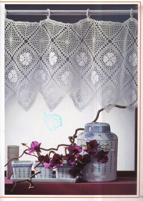 PATRONES GRATIS DE CROCHET: Patrón bellas cortinas a crochet
