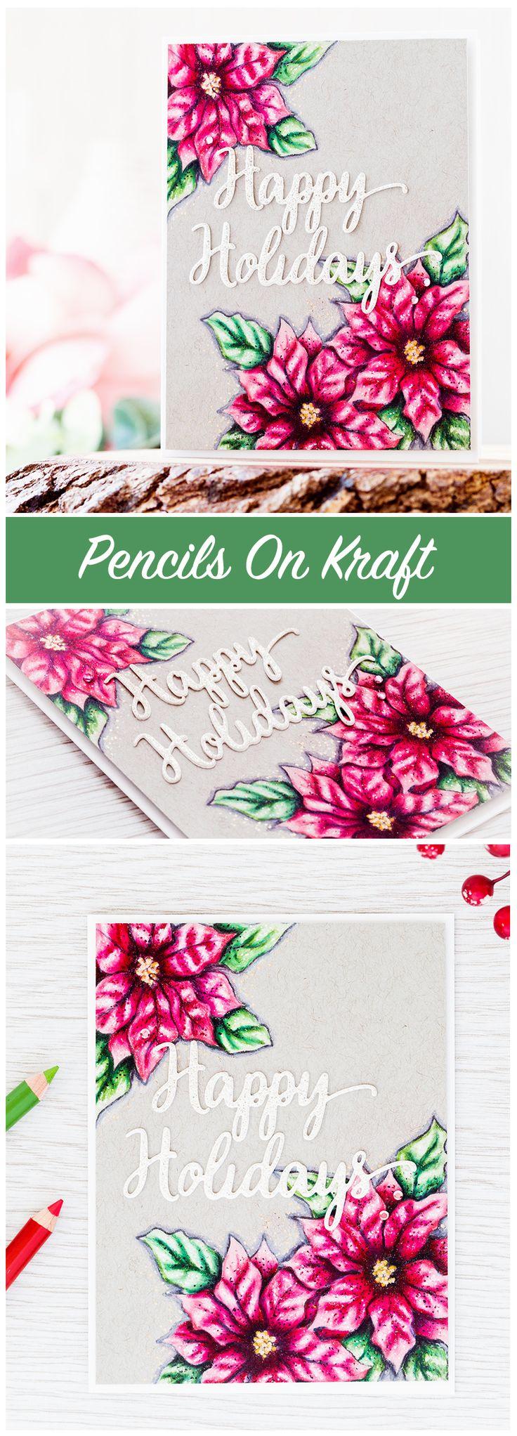 Scrapbook ideas christmas card - Poinsettias With Colored Pencils Sales News Ideas Scrapbookingxmas Cardscreative