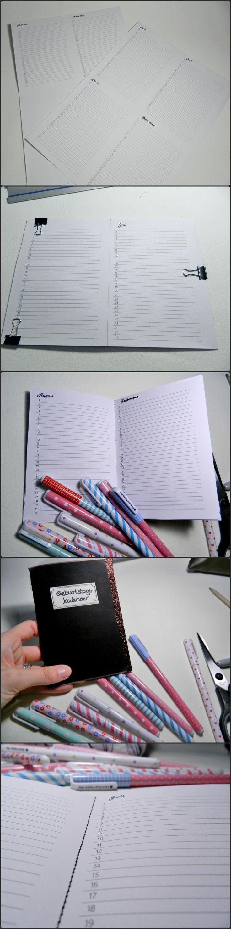 ber ideen zu geburtstagskalender basteln auf pinterest diy kalender. Black Bedroom Furniture Sets. Home Design Ideas