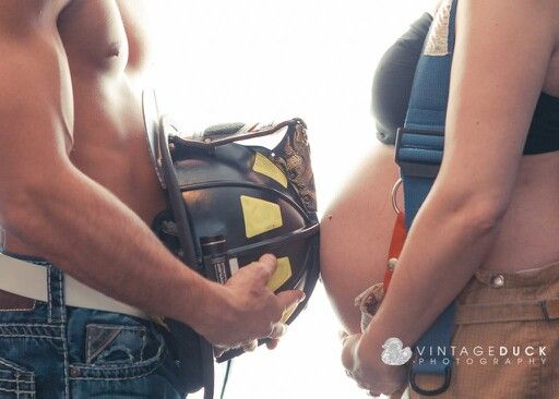 Pregnancy Photography # expecting #Baby Announcement Photo Idea #Firefighter