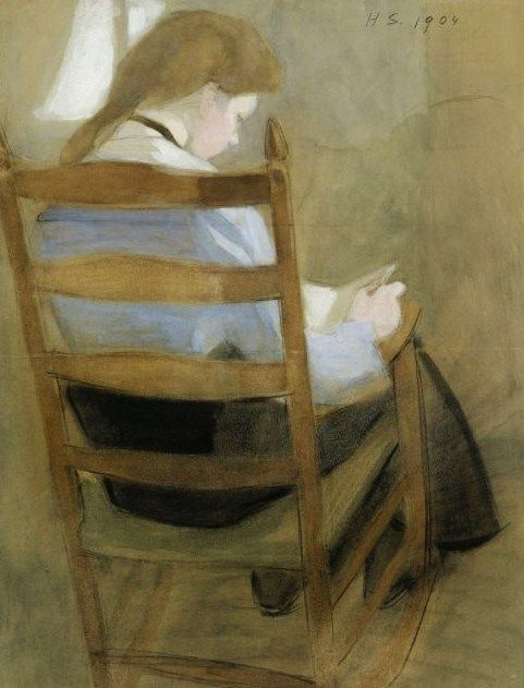Girl Reading, Helene Schjerfbeck , 1904