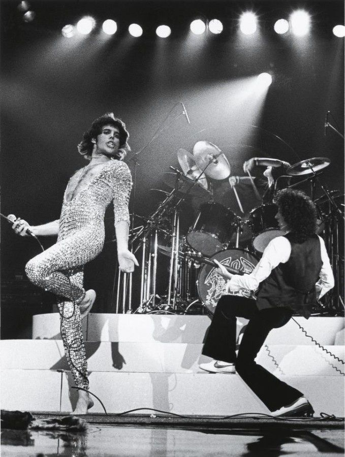 Queen on stage. Freddie had such a vocal range - I swear he could cover .6 or 7 octaves.