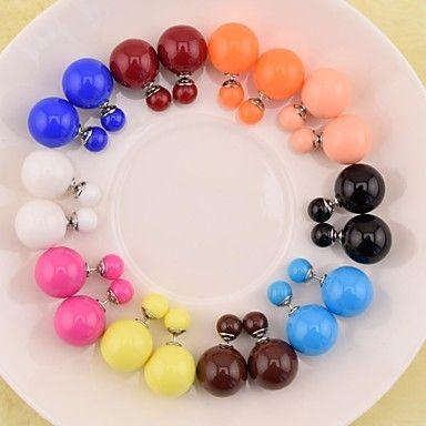Orecchini 16 millimetri moda simulate doppi orecchini di perle doppio Orecchini di perle retro usura - EUR € 1.49