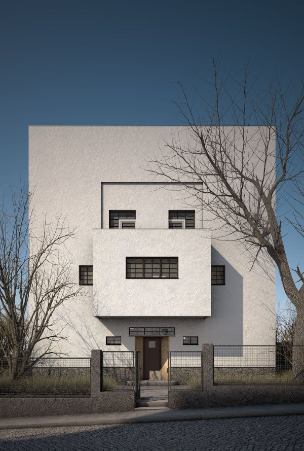 Moller house by adolf loos 1928 all things for Architecture vienne