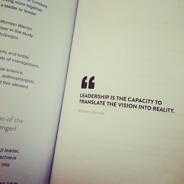 """""""#leadership is the capacity to #translate the #vision into reality."""" - Warren Bennis #leadershipupsidedown #book"""