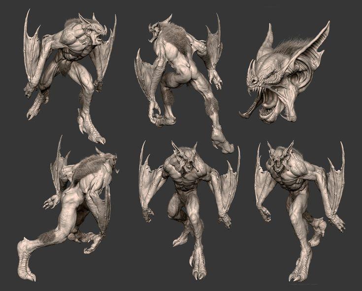 Bat creature #zbrush #cg #render