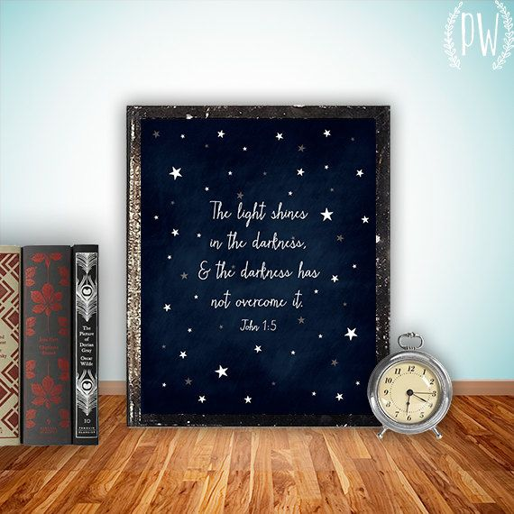 Bible verse art print printable wall decor by PrintableWisdom, $5.00