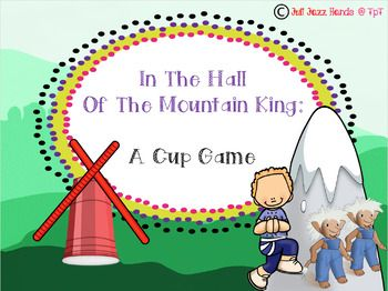 This listening activity and cup game follows the story of Peer Gynt as he discovers the trolls In The Hall Of The Mountain King from the Peer Gynt Suite by Edvard Grieg. This lesson is great around Halloween or whenever you are celebrating this composer of the month.