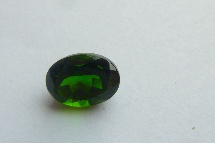 1.57 Cts 100% NATURAL RUSSIAN CHROME DIOPSIDE OVAL SHAPE LOOSE GEMSTONE #KinuBabaGems