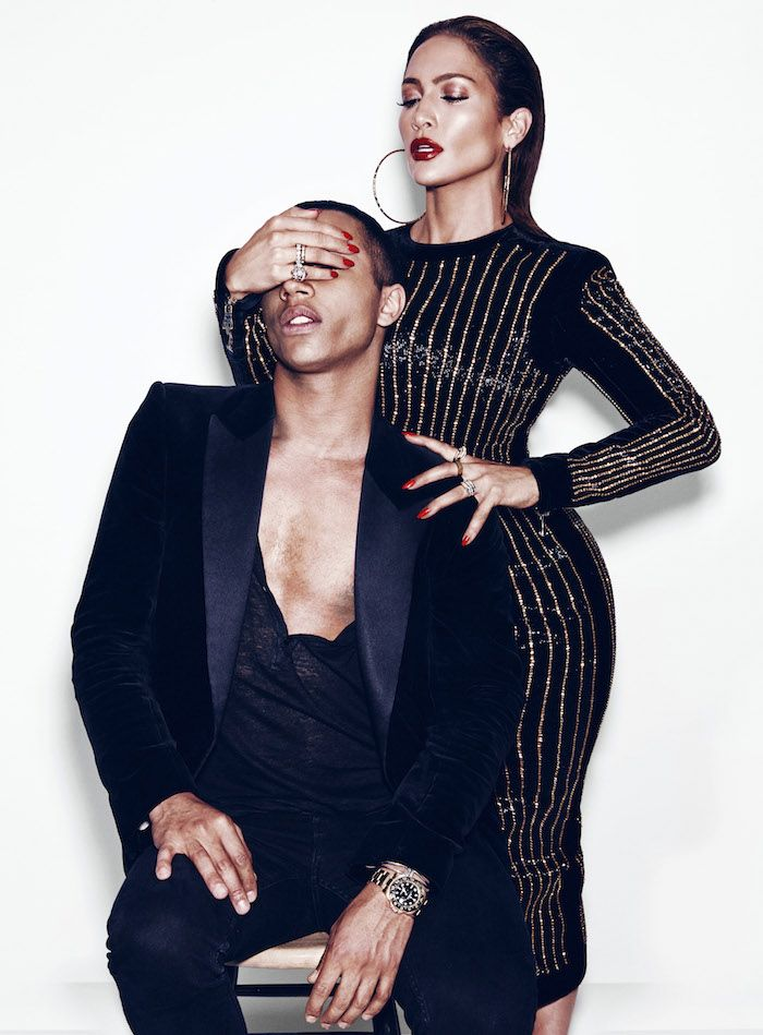 J.LO & Olivier Rousteing for Paper Magazine