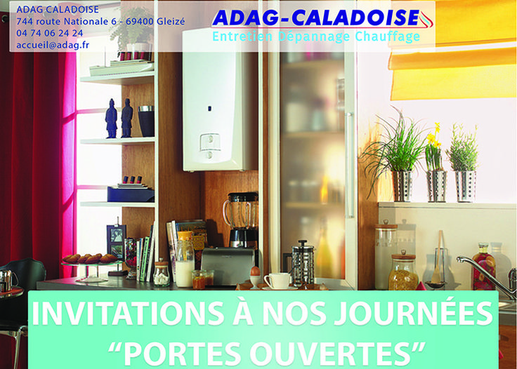 Invitation aux portes ouverte du plombier chauffagiste adag-caladoise
