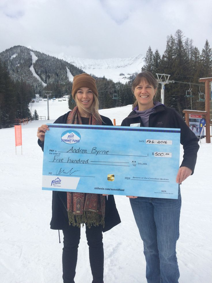 Fernie Alpine Resort Summit Fund is proud to support local freeski  athlete Andrea Byrne.  Just back from Kicking Horse where she won the  Wrangle The Chute FWT Qualifier, she is now heading to Colorado to compete in more FWT Qualifier events.  Good luck Andrea!