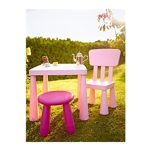 MAMMUT Children's stool IKEA Suitable for indoor and outdoor use. Made of durable plastic that is easy to clean.