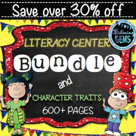 Literacy Centers & Character Traits Pack has 660 pages and 21 engaging and fun products combined into one HUGE bundle. This package provides you with a lifelong tool for setting up your literacy centers. These literacy & character trait activities are ideal for literacy centers, Daily 5, small group work or independent work. It is targeted for lower primary students.