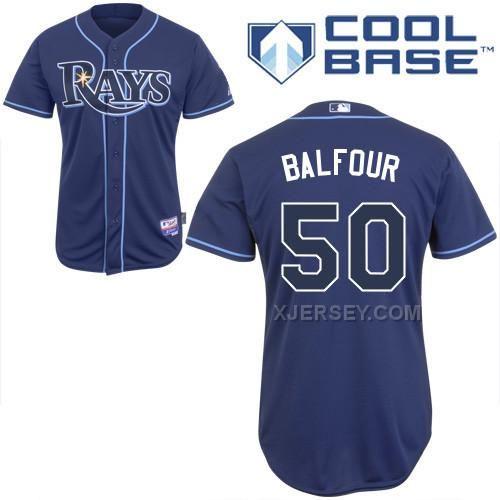 http://www.xjersey.com/rays-50-balfour-dark-blue-cool-base-jerseys.html RAYS 50 BALFOUR DARK BLUE COOL BASE JERSEYS Only $43.00 , Free Shipping!