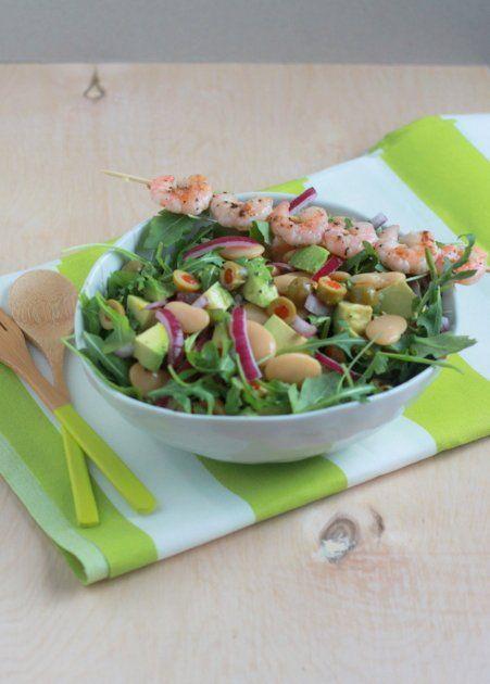 ... avocado, & baby arugula salad with optional grilled shrimp | Kitchen