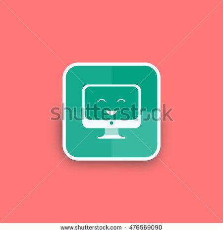 Healthy computer monitor icon