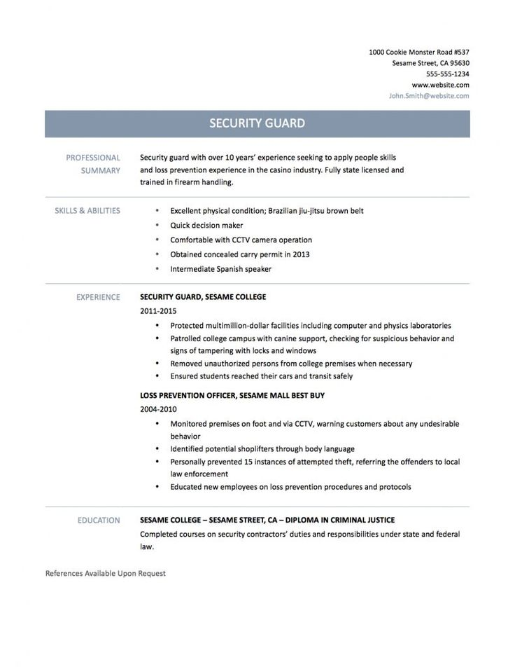 template matters well make sure your security officer resume sample