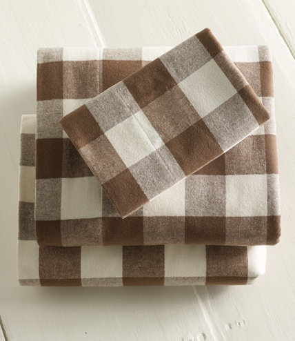 buffalo plaid sheets at llbean