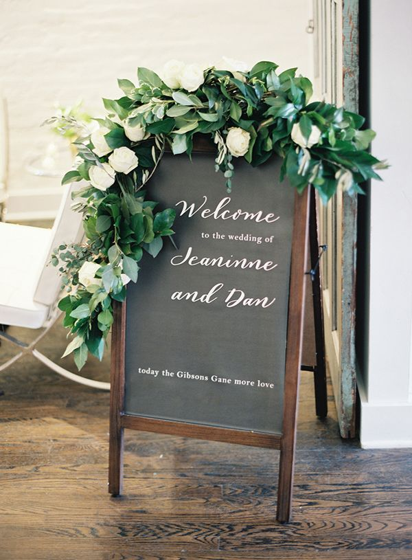 Hand lettered chalkboard with beautiful greenery, photo by amelia johnson