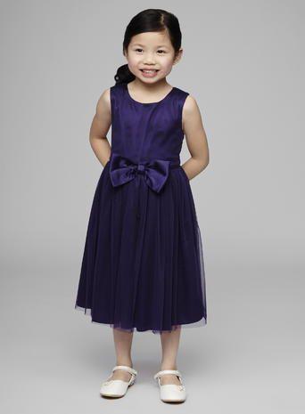 Bella Bow Grape Flower Girl Dress