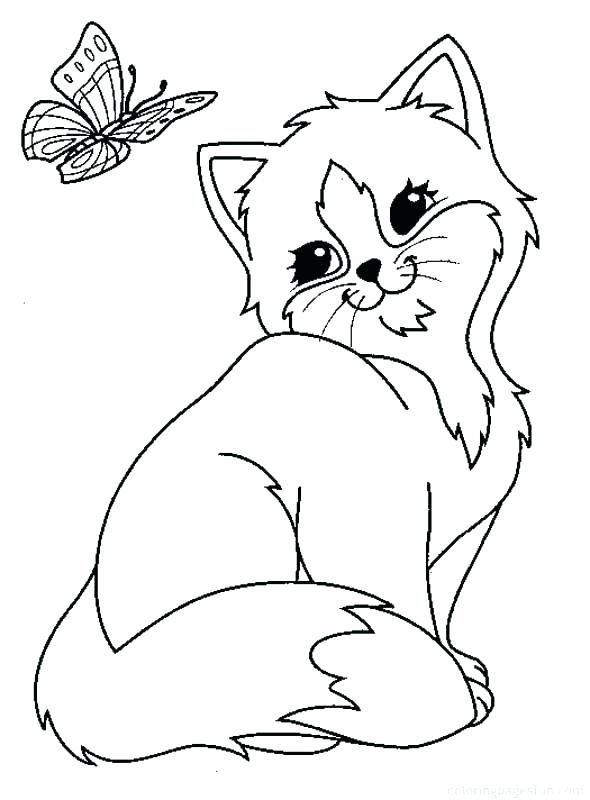 kitty color pages printable cat coloring pages cats and kitten ...